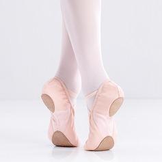 Donna Tela Ballerine Balletto Prova Scarpe da ballo