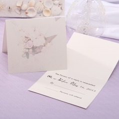 Personalized Floral Style Top Fold Response Cards (Set of 20)