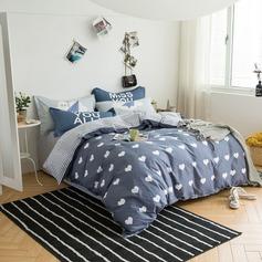 Pure Cotton 4-Piece Comforter Set (4pcs :1 Quilt Cover 1 Bed Sheet 2 Pillowcase)