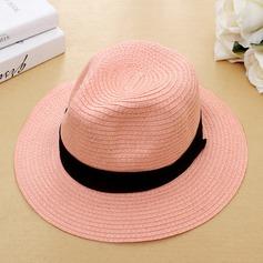 Unisexe Style Classique Rotin paille avec Une fleur Chapeaux de plage / soleil