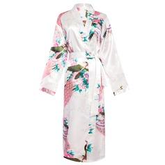 Brud Brudtärna polyester charmeuse med Knälång Kimono kläder