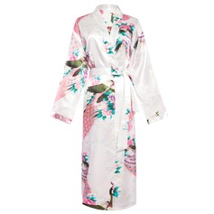 Braut Brautjungfern Polyester charmeuse mit Knielang Kimono-Roben