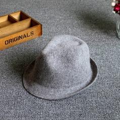 Senhoras Simples Mistura de lã De disquetes Chapéu