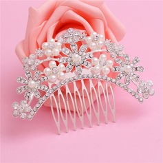 Ladies Special Alloy Combs & Barrettes With Rhinestone/Venetian Pearl (Sold in single piece)
