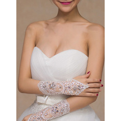 Lace Wrist Length Bridal Gloves With Lace (014227408)