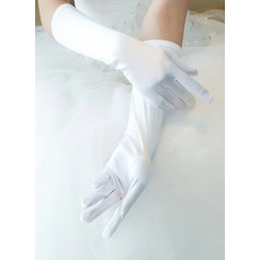 Satin Elbow Length Bridal Gloves (014205755)