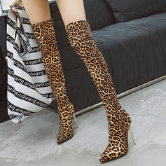 Suede Stiletto Heel Flats Wedges Mid-Calf Boots shoes