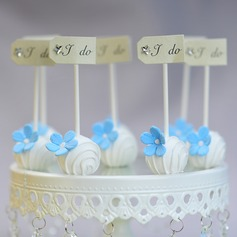 """I DO"" Taarttoppers (Set van 10)"