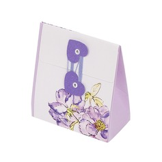 Desenho de flor Cubóide Caixas do Favor (conjunto de 12)