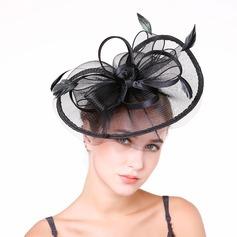 Señoras' Niza Pluma/Hilado de la red con Pluma Tocados/Derby Kentucky Sombreros/Sombreros Tea Party