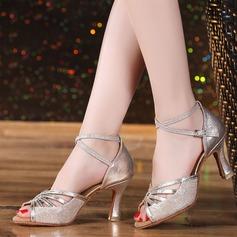Naisten Kuohuviini glitteri Sandaalit Latinalainen Tanssikengät