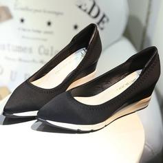 Frauen Satin Keil Absatz Keile Schuhe