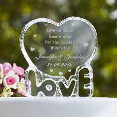 Personalized Love Design Crystal Cake Topper