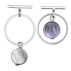 Chic Acrylic Copper Women's Fashion Earrings (Set of 2)