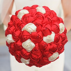 Round Satin Bridal Bouquets (Sold in a single piece) -