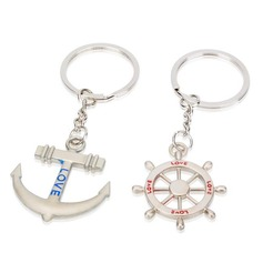 "Classic ""Voyage of Love"" Zinc alloy Keychains (set of 4 pairs) (120037754)"