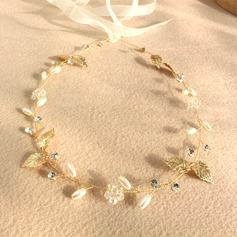 Senhoras Bonito Cristal/Falso pérola Diademas
