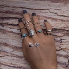 Fashional Alloy Resin Ladies' Fashion Rings (Set of 8)