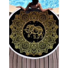 Retro /Cru/l'éléphant Énorme serviette de plage