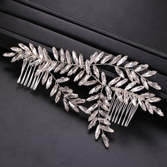 Ladies Exquisite Rhinestone/Alloy Combs & Barrettes With Rhinestone (Sold in single piece)