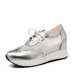 Femmes similicuir avec Dentelle Baskets & Chaussures de sport
