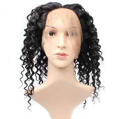 360 Frontal 4A Non remy Profond les cheveux humains Fermeture (Vendu en une seule pièce) 100 g