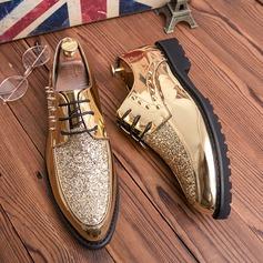 Menn Lær Glitrende Glitter Blondér Avslappet Pen sko Oxfordsko til herre