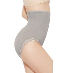 Women Casual Cotton/Lace Breathability High Waist Panties With Lace Shapewear
