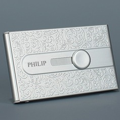 Personalized Stainless Steel Bussiness Card Case (5 letters or less) (Sold in a single piece)