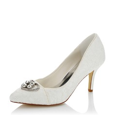 Kvinnor Mesh Spool Heel Pumps med Strass