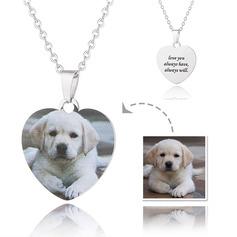 Personalizado Silver Coração Impressão Em Cores Foto Colar - Presentes Para O Dia Das Mães (288234213)