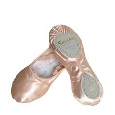 Женщины Атлас На плокой подошве Балет с бантом Обувь для танцев