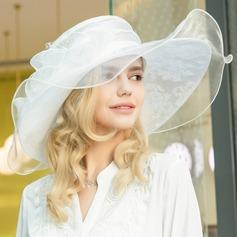 Ladies ' Smukke/Glamourøse/Elegant/Hotteste Organzastof Strand / Sun Hatte
