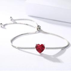 Anti-oxidatie Schakelketting Bruidsmeisje armbanden Bolo armbanden met Hart -