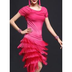 Mulheres Roupa de Dança Poliéster Dança Latina Vestidos
