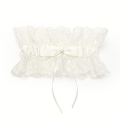 Gorgeous Satin Lace With Rhinestone Wedding Garters