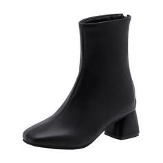 Kvinder Kunstlæder Stor Hæl Støvler sko
