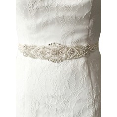 Fashional Satin Sash With Rhinestones (015080733)