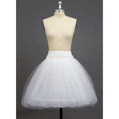 Women Tulle Netting/Polyester Knee-length 3 Tiers Petticoats (037033985)
