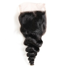 """4""""*4"""" 4A Non remy Loose Human Hair Closure (Sold in a single piece) 40g"""