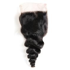 """4""""*4"""" 4A Non remy En vrac les cheveux humains Fermeture (Vendu en une seule pièce) 40g"""
