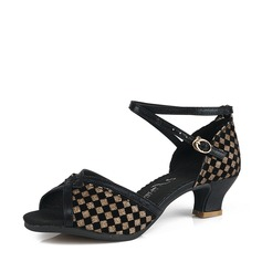 Women's Fabric Heels Latin Dance Shoes