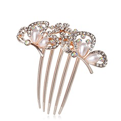 Special Rhinestone/Alloy/Imitation Pearls Combs & Barrettes