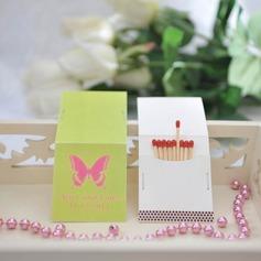 Personalizado Borboleta papel cartão duro Caixas de Fósforos Personalizadas (Conjunto de 50)