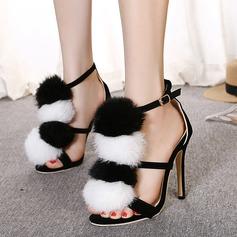De mujer Ante Tacón stilettos Sandalias zapatos