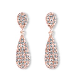 Unique Zircon Ladies' Earrings