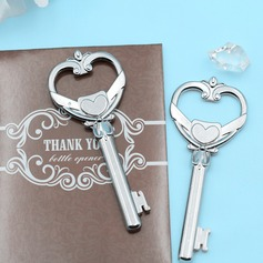 """Key to My Heart"" Chrome Bottle Opener"
