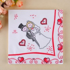Couple heureux conception Serviette de dîner (Lot de 20) (011036231)