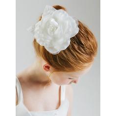 Poliéster flor Headband
