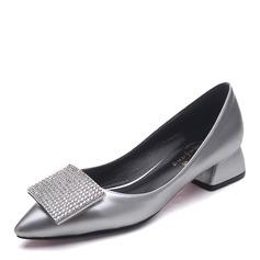 Femmes Tissu Talon bottier Escarpins Bout fermé avec Strass chaussures